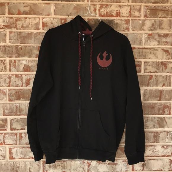 Star Wars Black Rebels Full Zip Up Hoodie